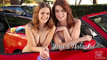 Naked wild on the - Girls gone wild - teen lesbians wilding outdoors on a car