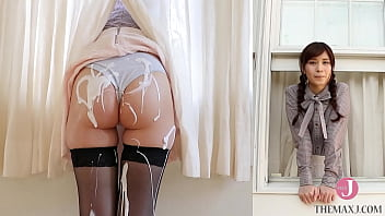 A beautiful girl who gets messed with her ass during an interview, her ass is covered with white cream in a blink of an eye --Ria Sato [bunc 002]