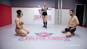 Brandi Mae Cbt In Nude Wrestling Fight Then Pegging Loser