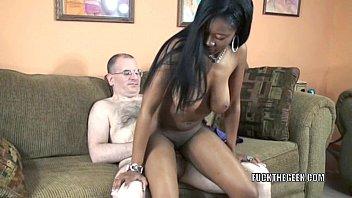 Busty slut Mercy Starr takes some dick in her black twat