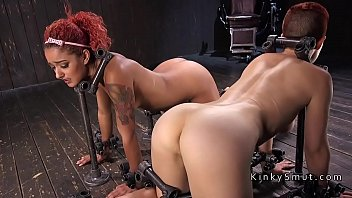Two redhead slaves together tormented