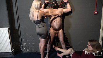 Spank ball - Swing for mistresses feet - balls caning for noisy slave
