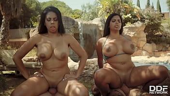 Curvy Twins Double Fuck porn thumbnail