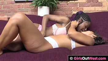 Hot exotic lesbians lick each others wet hairy pussy 4 min