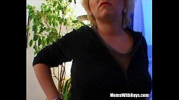 Mature Blonde Sucking Her Guest's Hard Cock