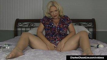 Smoking Milf Charlee Chase Rubs Hitachi On Pussy In Hose! 5 min