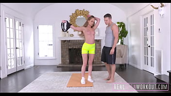 Hot Young Blonde Teen With A Great Ass Fucked By Trainer During Workout