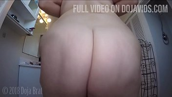 Hairy bbw with cellulite booty - Big booty clapping,twerking ass spreading