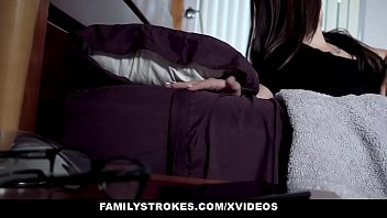 FamilyStrokes - Hot Stepmom and Teen Share Huge Cock Image
