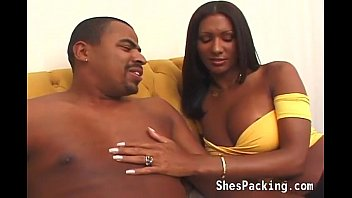 Ebony shemale loves a big black cock