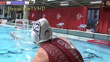 Water polo athlete showing her perfect butt