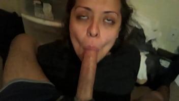 New Amazing Latina Teen GF sucking dick