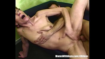 Mature sex and porn galleries - Skinny granny old pussy clobbered by young cock