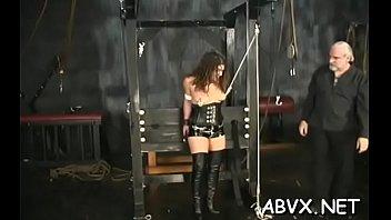 Racy cutie bury a rubber fake penis inside her gap