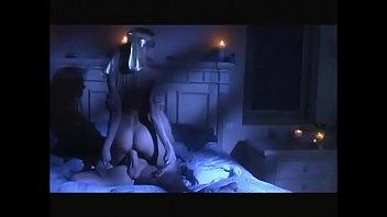 Blindfolded blonde sex goddess gets slammed on bed then swallows