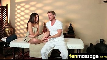 Gorgeous Skinny gets a massage 9