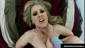 Busty Doggy Dicked Cougar Julia Ann Bends Over To Enjoy Some Spy Cock!