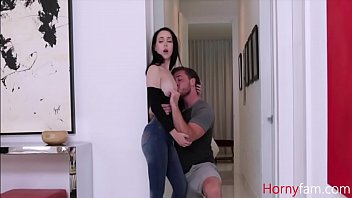 Stepsiblings fuck while dad rests in the other room