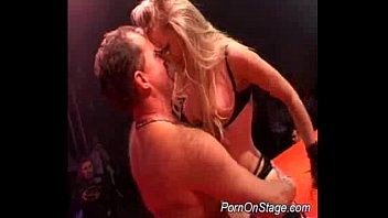 Porn On Stage Hard Dildoing