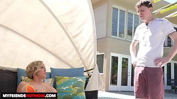 Naughty America - Dee Williams gets oiled up before banging her son's friend