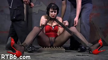 Sexy chick gets her smooth ass whipped during t.