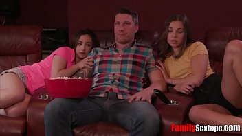Dad fucks daughters - Blessed with two hot girls- dad fucks daughters