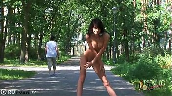 naked girl on the street