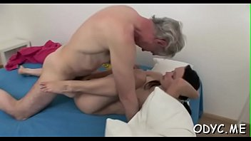 Steamy old and young action with fat dude banging hot hottie