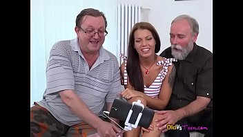 Broke Teen Riana G Gets Serviced By Old Men