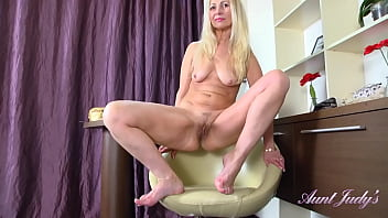 AuntJudys - 50yo Mature Amateur Callidica in Stockings & High Heels