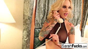 Sarah Jessie orders room service for a BBC