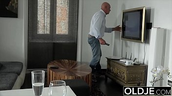 Old and young sex starts sensual and ends with hot cumshot 10 min