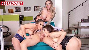 LETSDOEIT - #Valentina Nappi #Karma Rx #Athena Faris - Lucky Boss Gets To Fuck Hardcore With Three Sexy Secretaries 14 min
