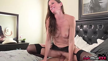 Fit MILF In Stockings Sofie Marie Rides Massive Cowboy Dick