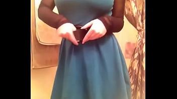 Princess shows her dress