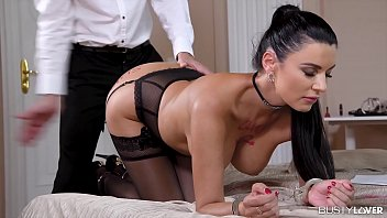 Busty lovers get to watch top-heavy anal lover Ania Kinski scream & cream
