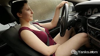 Car masturbation video - Busty jenny masturbating in the car
