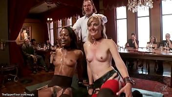 Interracial sluts made fuck Sybians