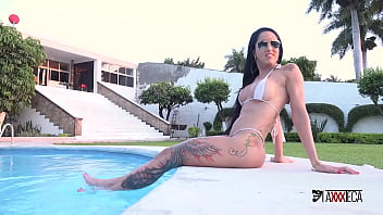 Brazilian girl with hot body gets double anal penetrated by two mexican dicks Elisa Sanches