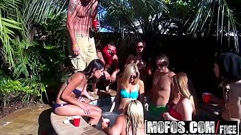 Mofos - Real Slut Party - Backyard Booty Contest starring  Alaina Fox and Luna Star and Emily Kae 8 min