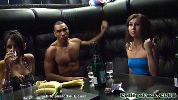 Amateur students having a fuck fest at club
