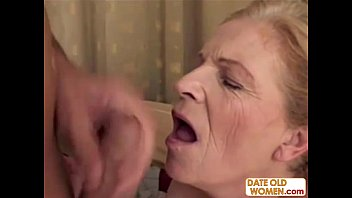 Grandmother gets fucked Blonde old grandma gets facial