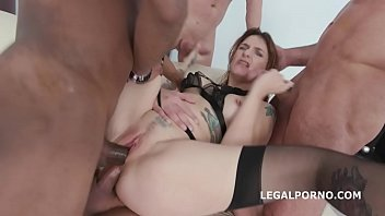 Squirt in my Mouth 4on1 with Adreena Winters   Messy Cumshot &amp_ Swallow