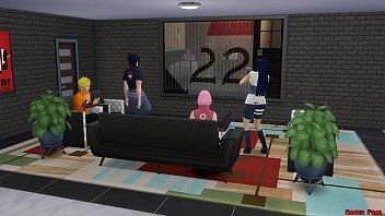 Intercambio de Esposas Con Hinata y Sakura Día de Piscina Naruto Hentai