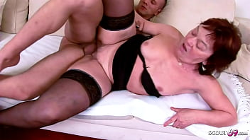 82 yr OLD UGLY GRANNY CAUGHT AND FUCK BY TEEN GRAND SON