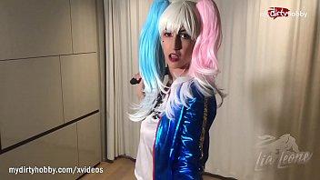 MyDirtyHobby - Busty babe Lia Leone cosplaying naughty little Harley Quinn