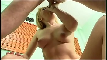 Big booty blonde housewife Luciana got her cock-hungry pussy poked by well hung fellow and her boobs creamed with jizz