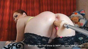 Big Bubble Butt Stepmom Super Gushy Wet Squirt Orgasm on Fuck Machine