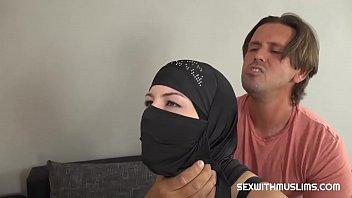 Muslim woman pleases a friend 8 min