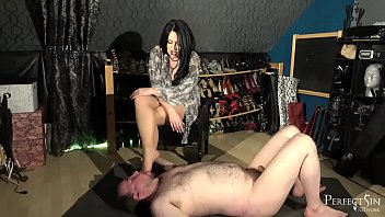 Interactive Foot Stand - Smoking and Foot Gagging from Domina Jemma